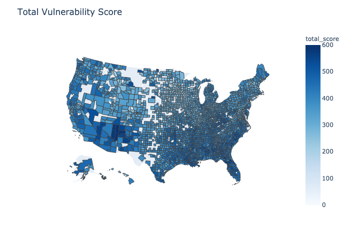 COVID19 county vulnerability index